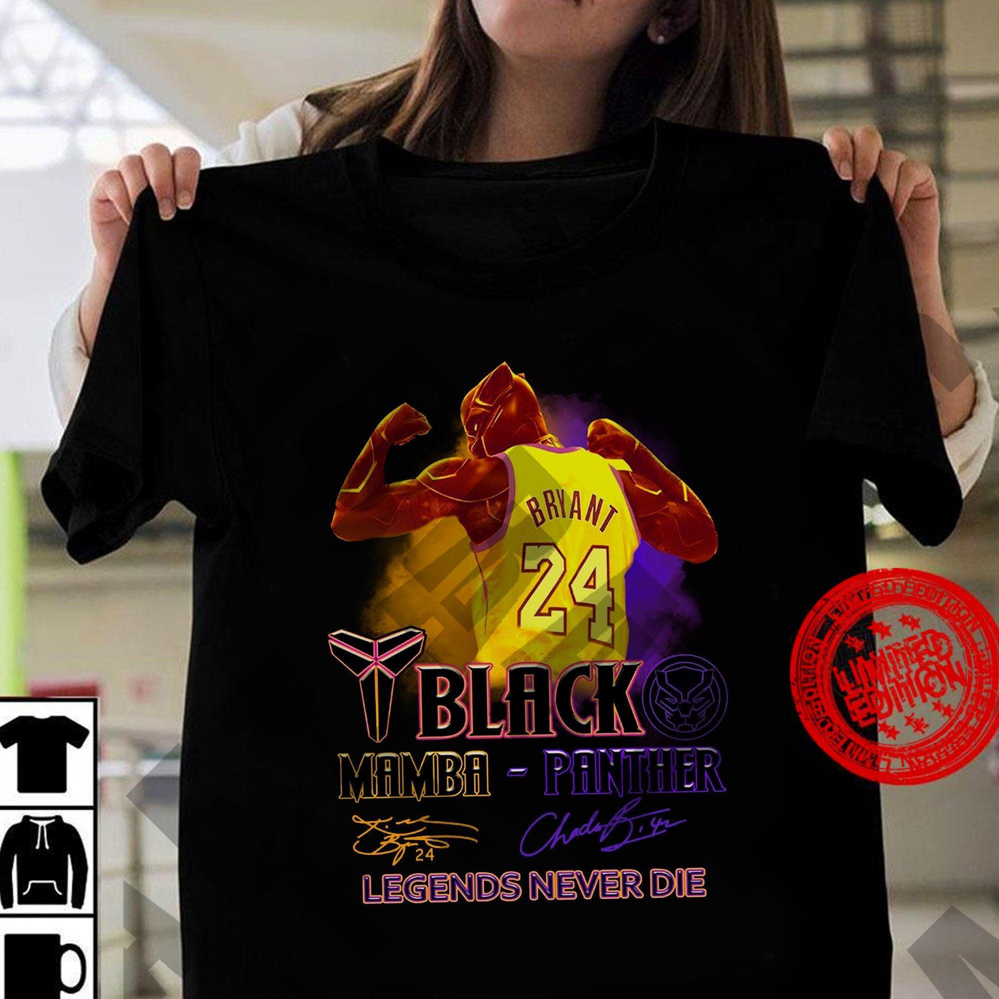 Black Panther , 24 Kobe Bryant , Chadwick Boseman Shirt
