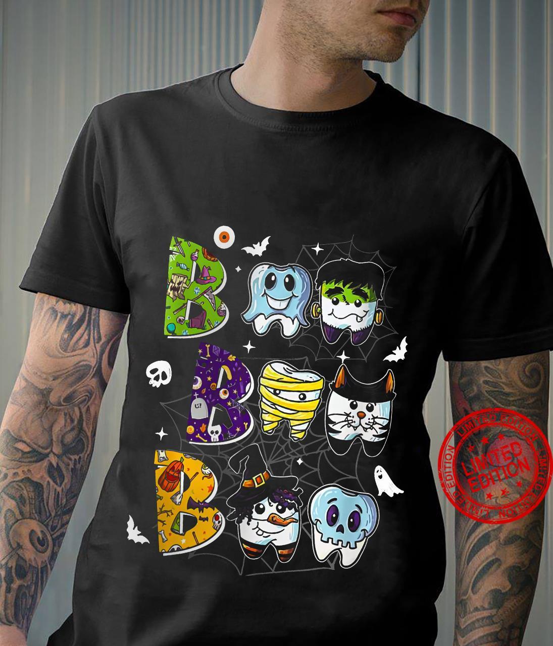 Boo Boo Boo Dental Halloween Shirt