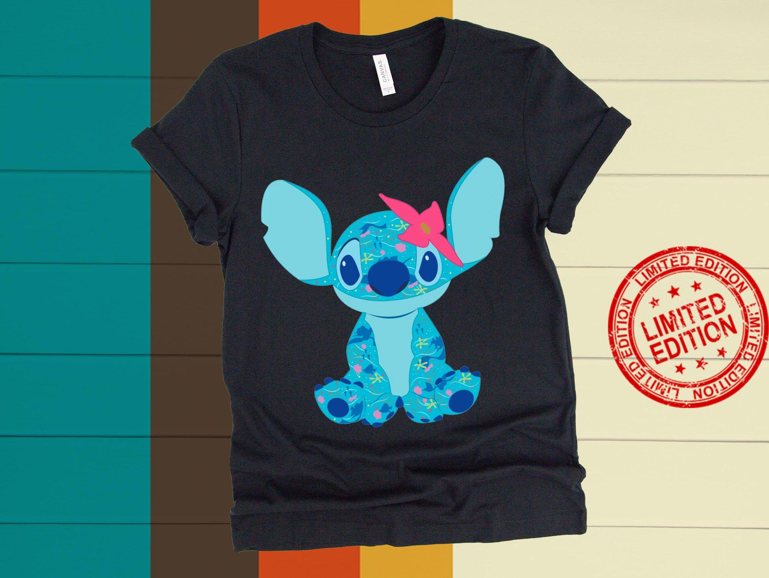 Disney Movie Stitch Crashes The Little Mermaid Shirt