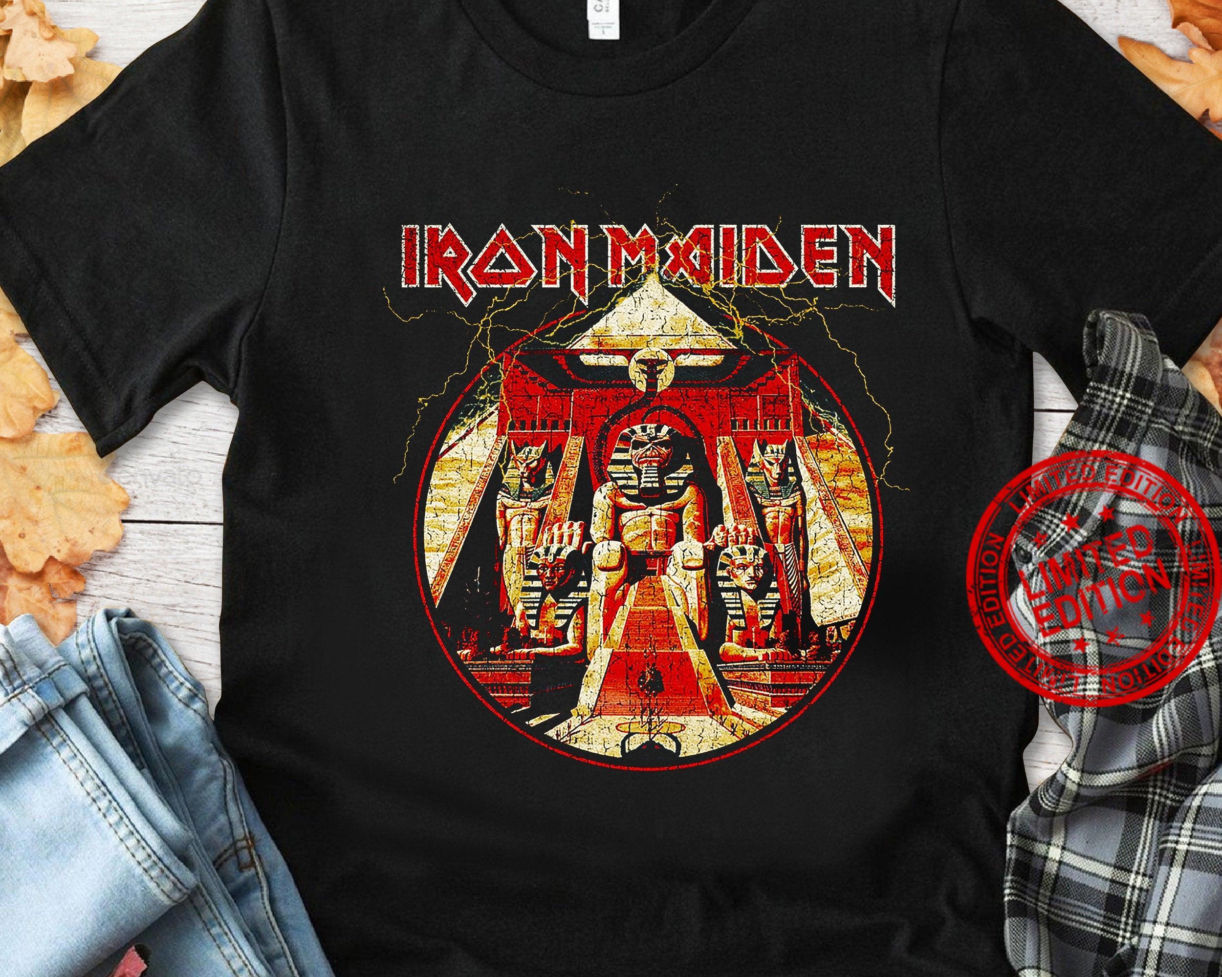Iron Maiden Logo Rock Heavy Metal Music Shirt