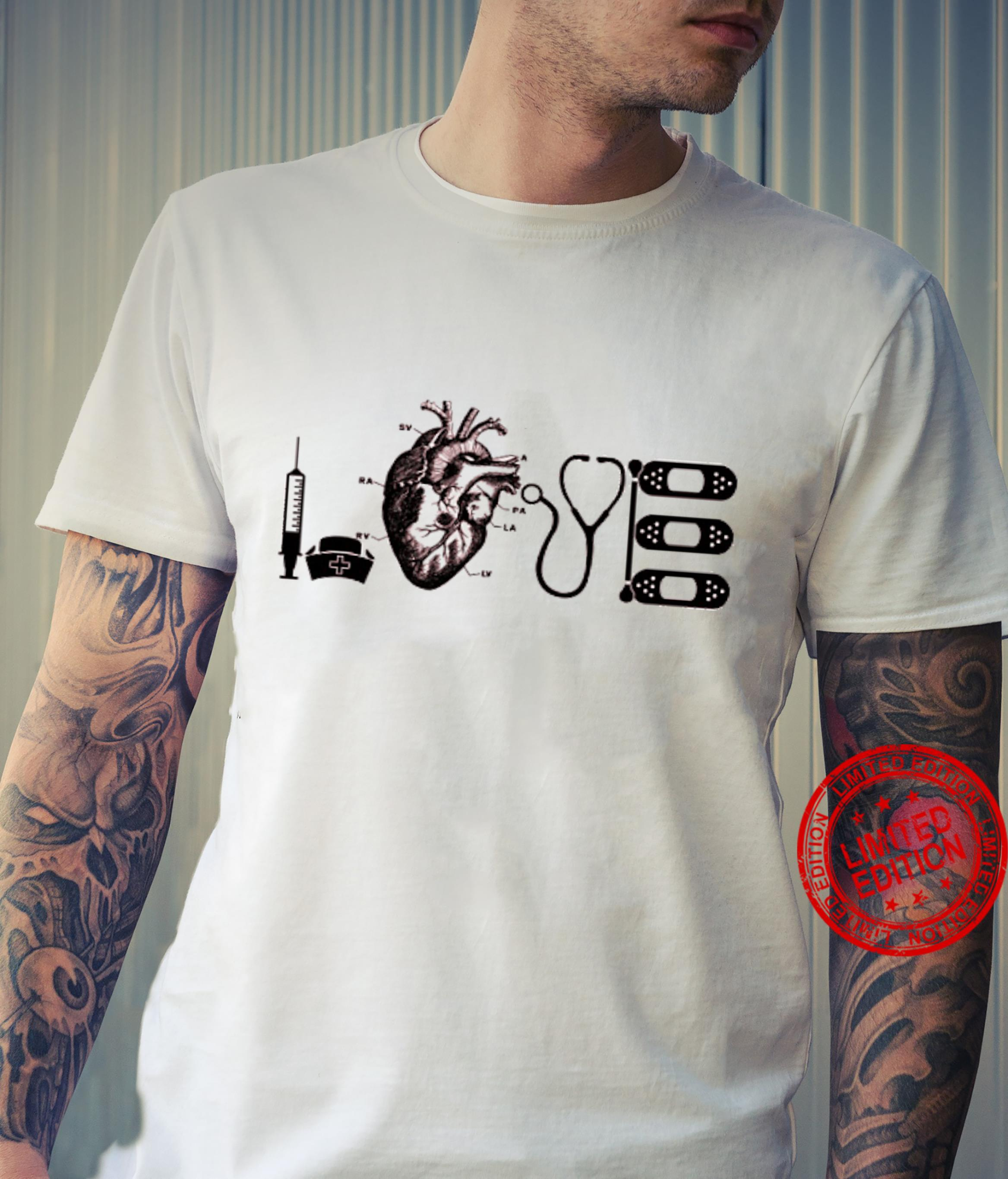 Love Heart Nurse Shirt