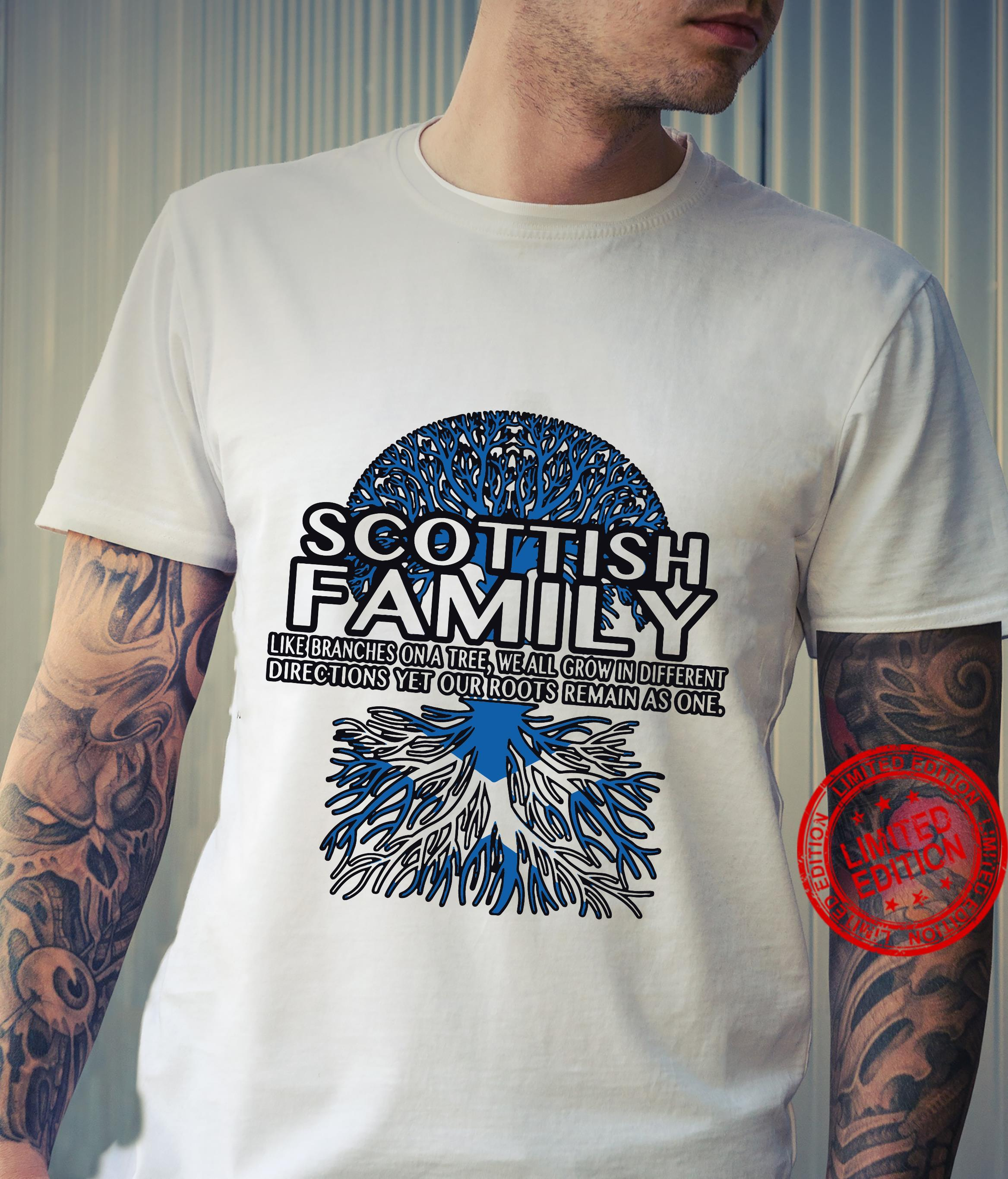 Scottish family like branches on a tree we all grow in different directions yet our roots remain as one hoodie