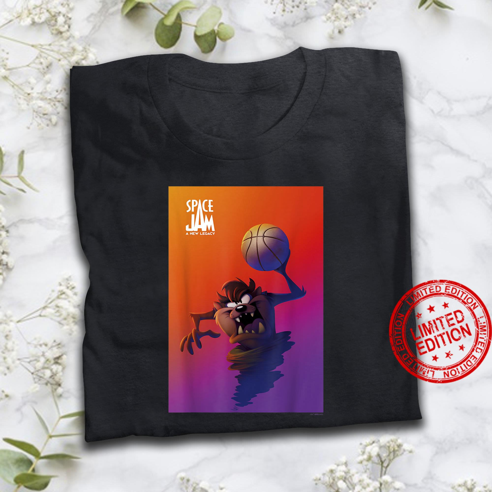 Space Jam A New Legacy Taz With Basketball Poster Shirt