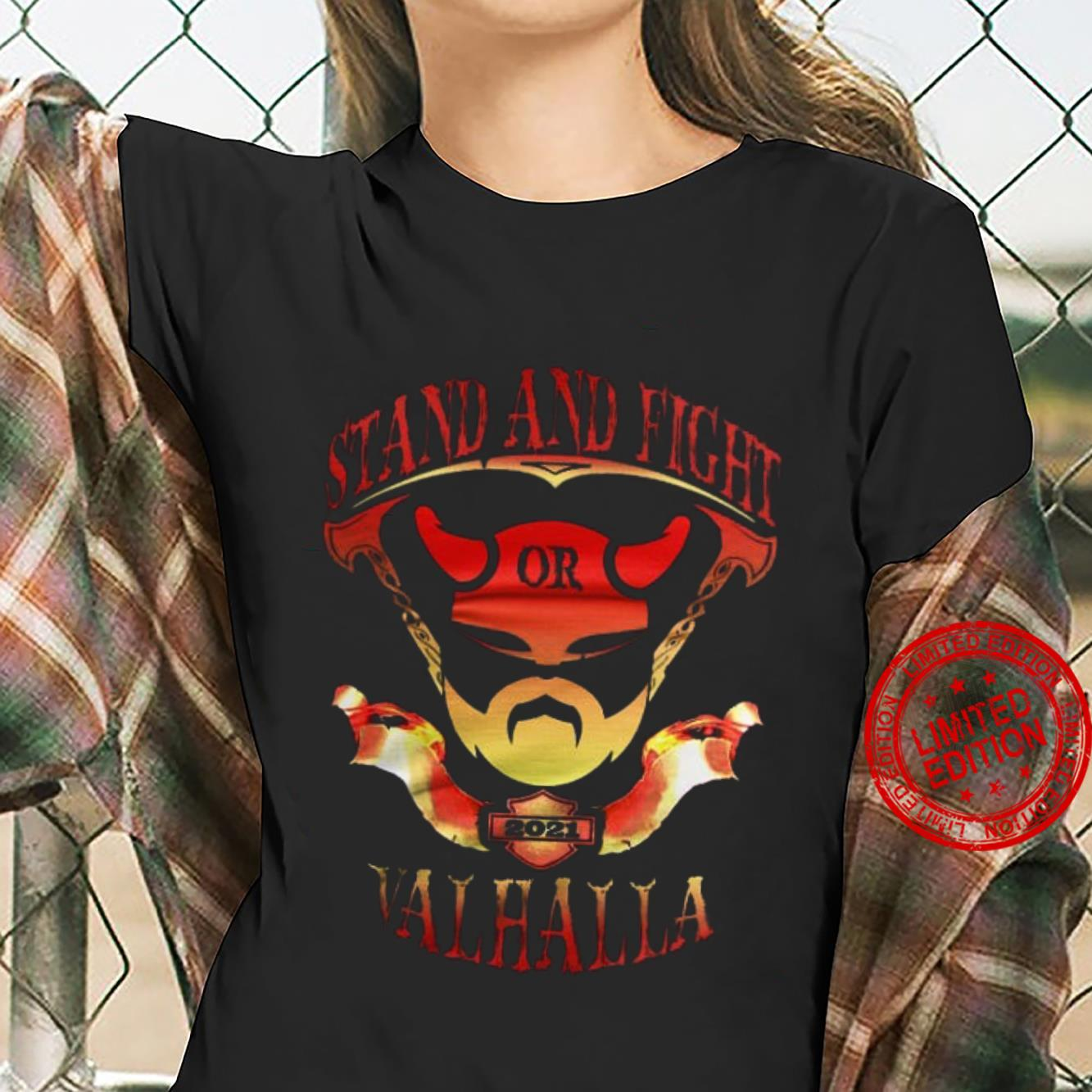 Stand And Fight Or Valhalla Shirt ladies tee