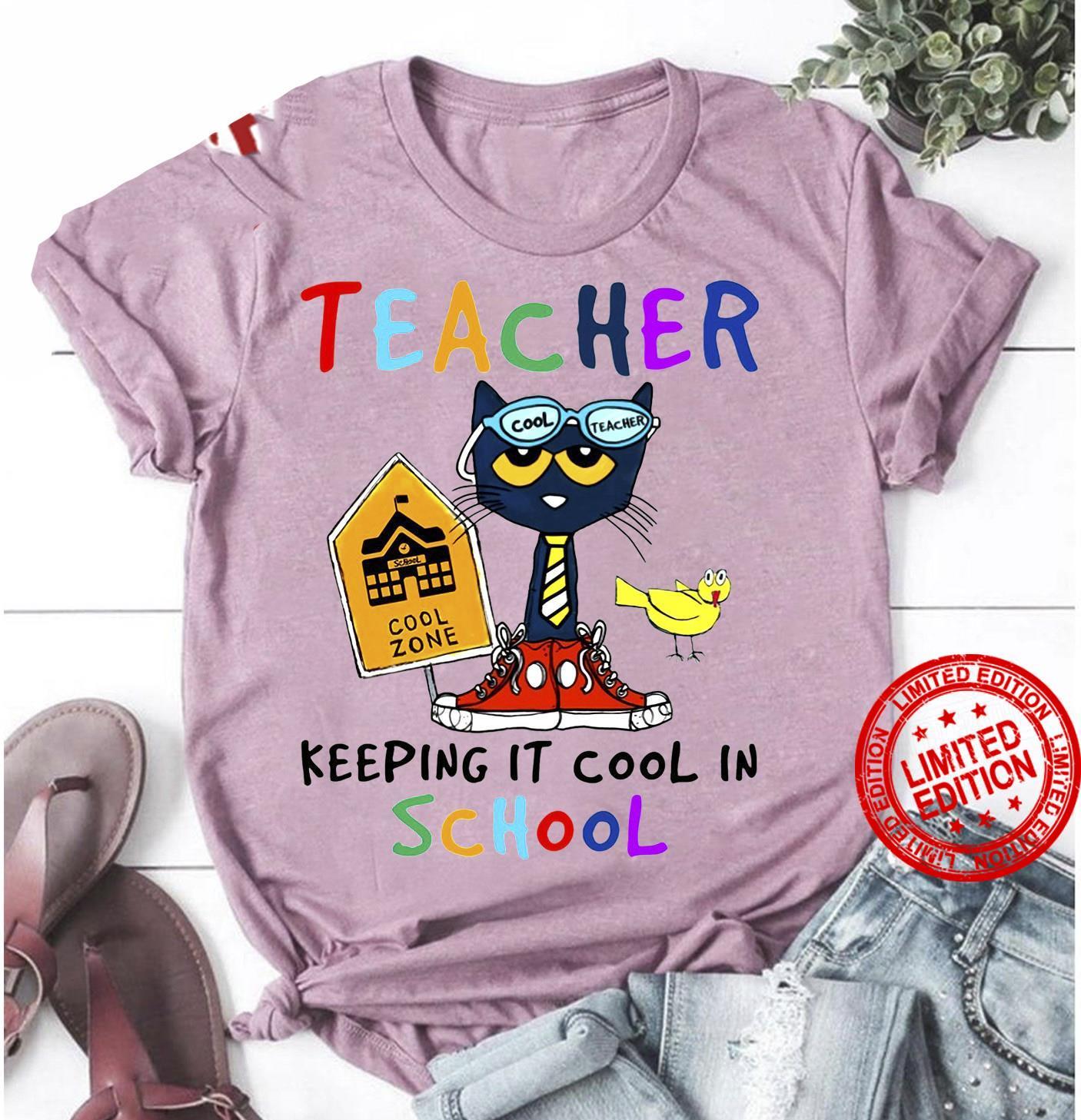 Teacher Keeping It Cool In School Shirt
