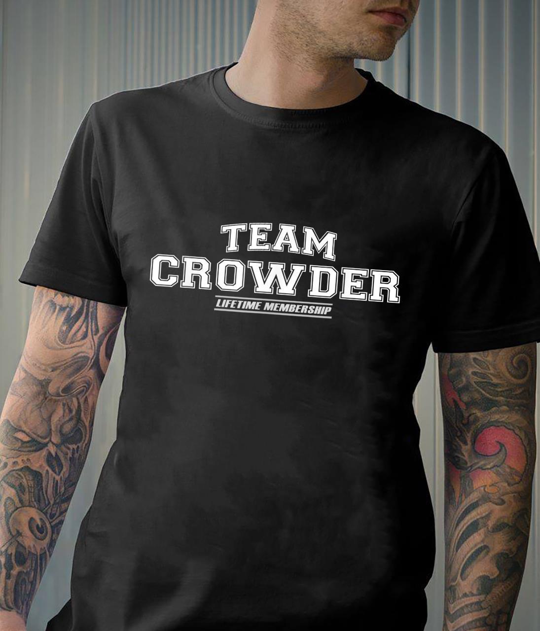 Team Crowder Proud Family Surname, Last Name Shirt