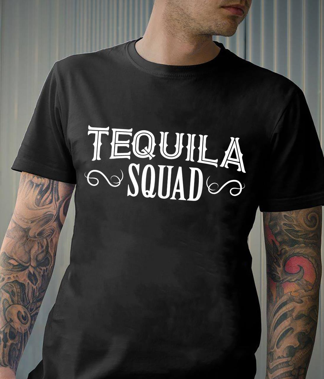 Tequila Squad Drinking Team BDay Saying Birthday Party Shirt
