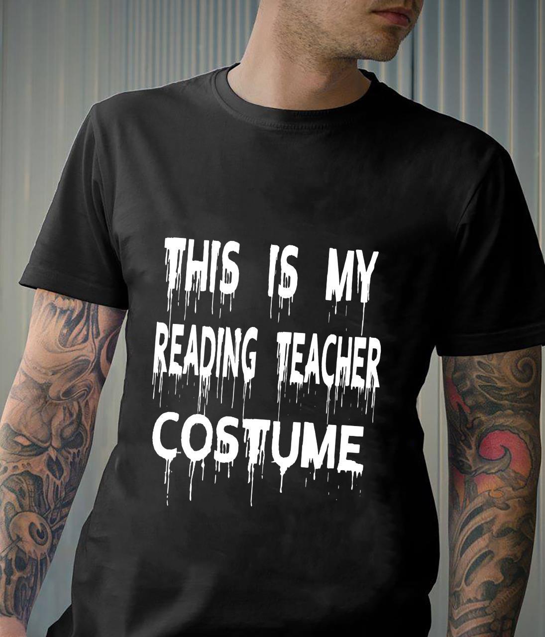 This Is My Reading Teacher Costume Halloween Shirt