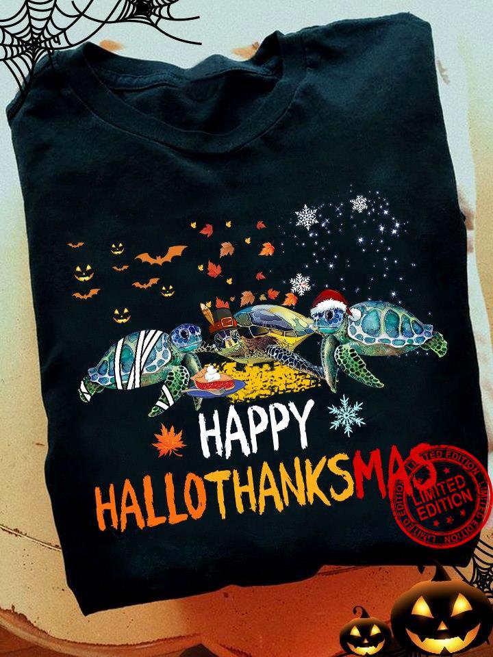 Turtles Hallothanksmas Shirt