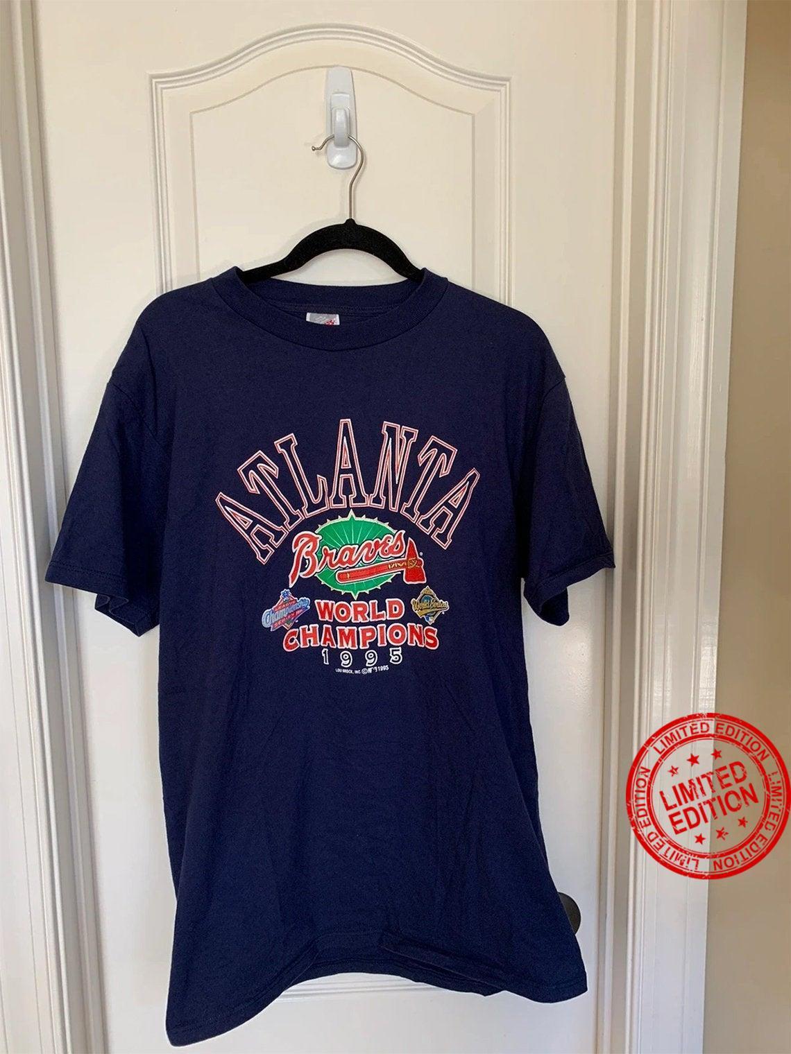 Vintage 1995 atlanta braves world champions shirt