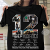 12 Year Of Chuck Signatures Thank You For The Memories Shirt