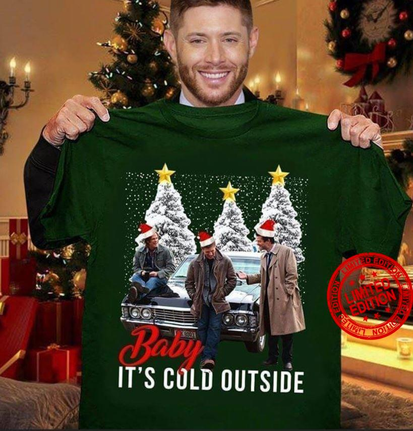 Baby It's Cold Outside Merry Christmas Tree Shirt