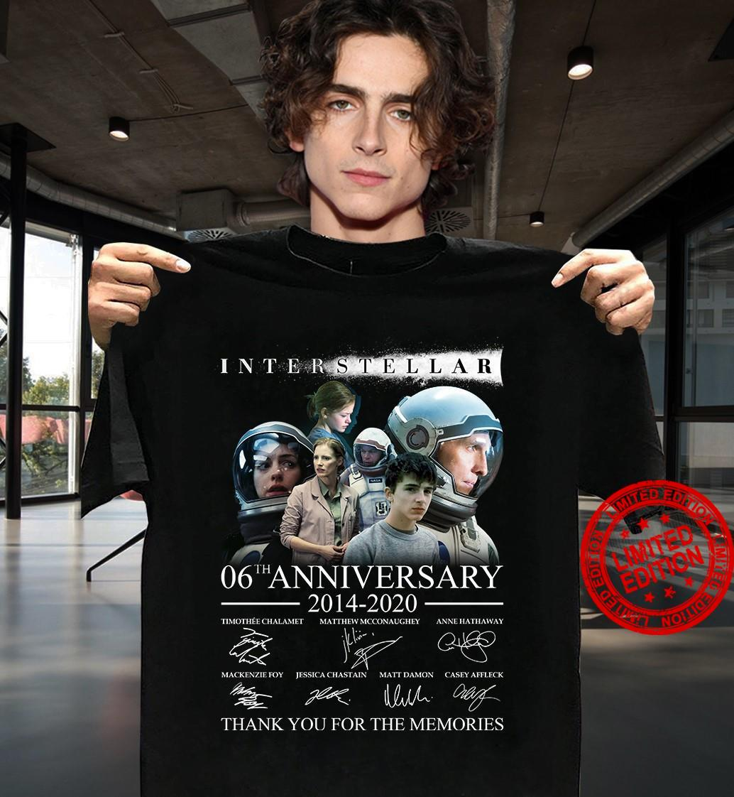 Interstellar 06th Anniversary 2014-2020 Thank You For The Memories Shirt