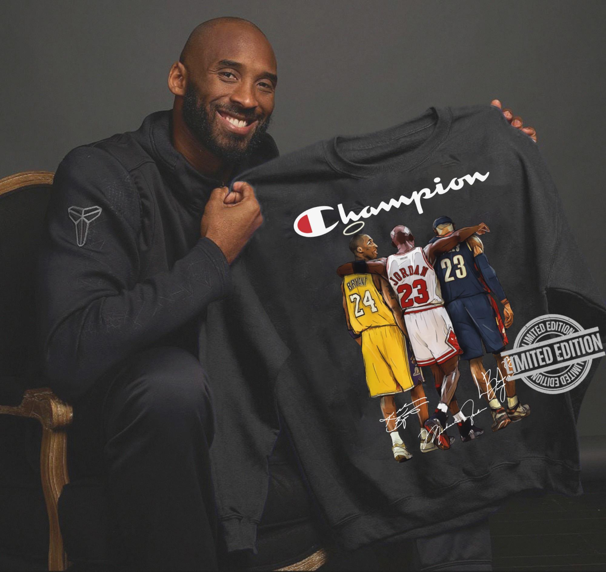 Kobe Bryant Michael Jordan LeBron James Champion Shirt