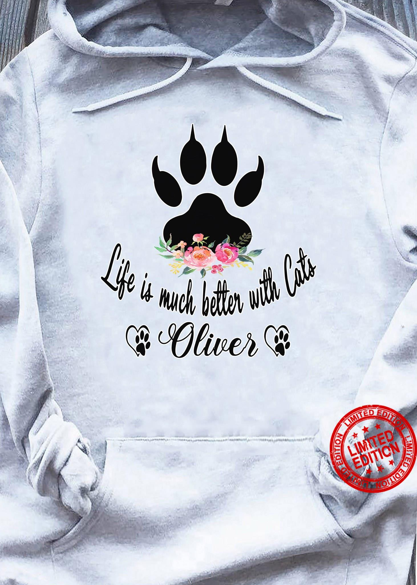 Life Is Much Better With Cats Oliver Shirt