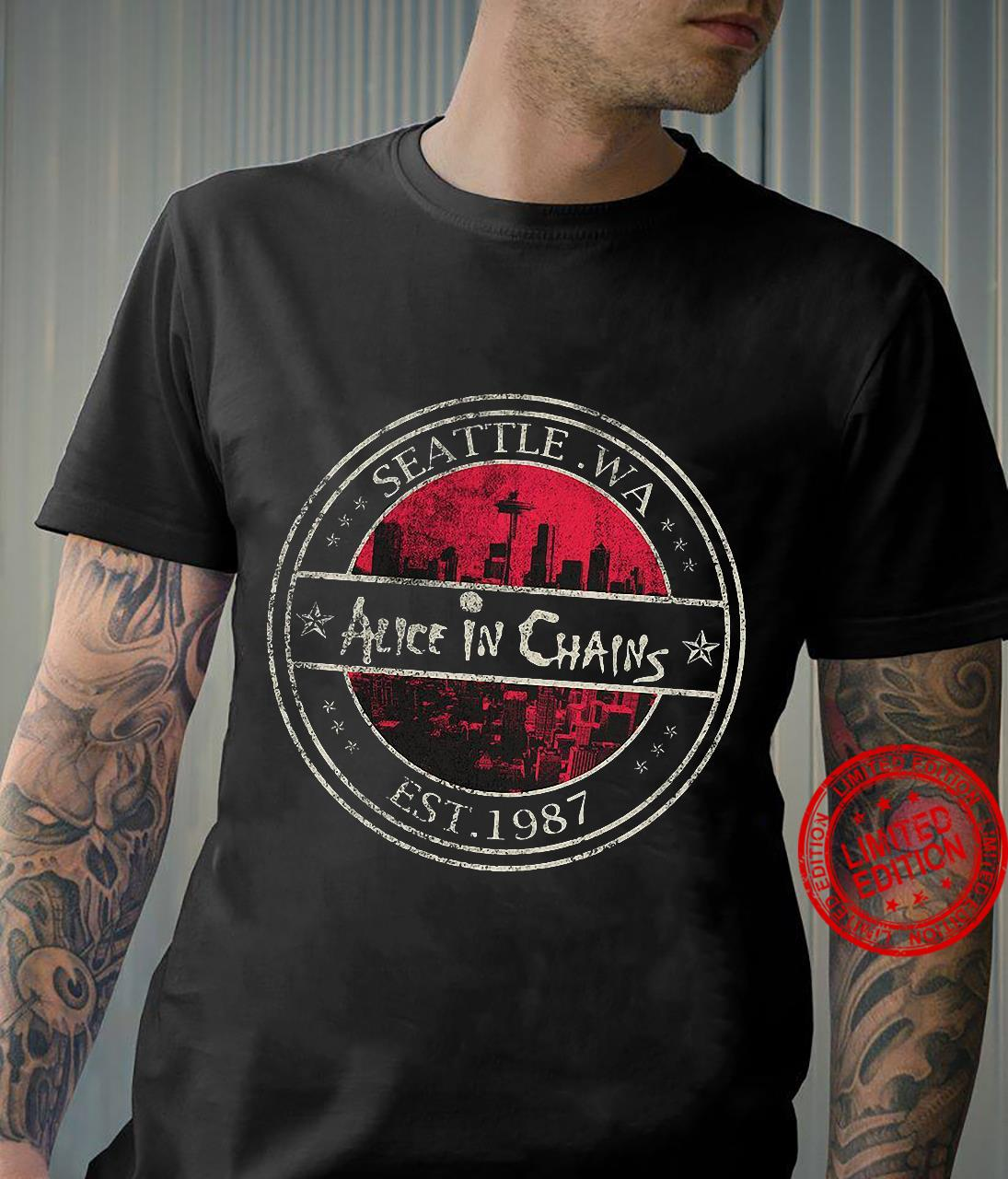 Seattle Wa Alice In Chains Est.1987 Shirt