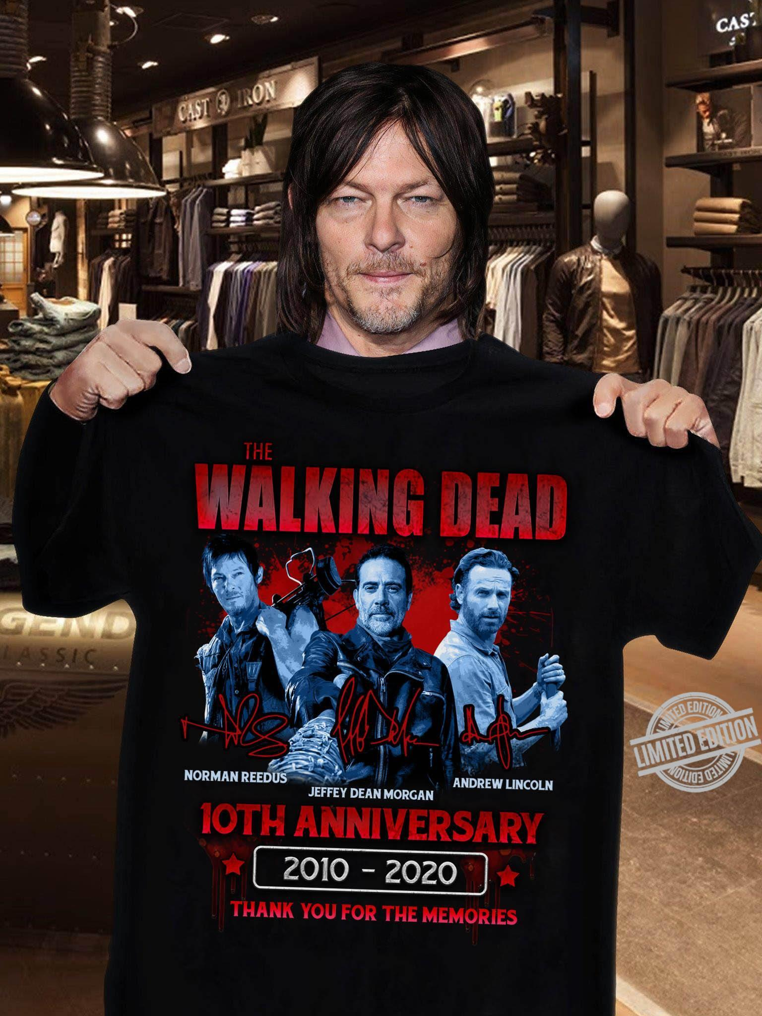 The Walking Dead 10th Anniversary 2010-2020 Thank Your For The Memories Shirt