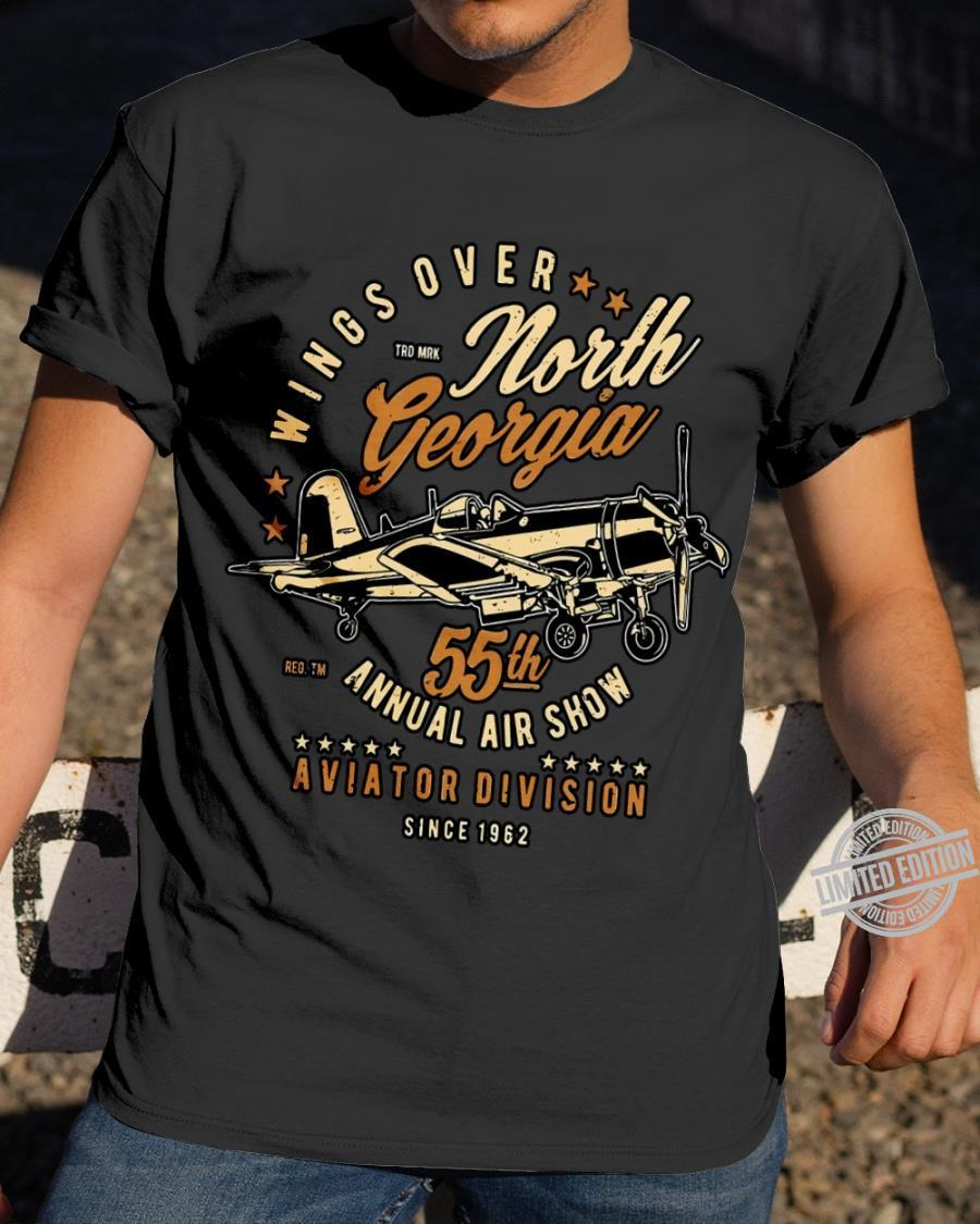 Wings Over North Georgia 55th Annual Airshow Aviation Division Since 1962 Shirt